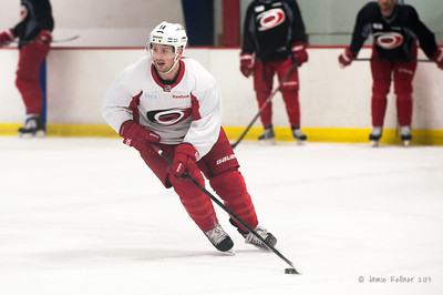December 17, 2013.  Carolina Hurricanes practice at Raleigh Center Ice, Raleigh, NC.  Copyright © 2013 Jamie Kellner. All rights reserved.