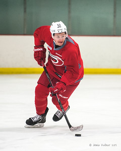 Jeff Skinner. December 17, 2013.  Carolina Hurricanes practice at Raleigh Center Ice, Raleigh, NC.  Copyright © 2013 Jamie Kellner. All rights reserved.