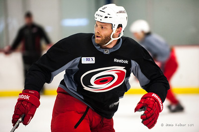 Tim Gleason. December 17, 2013.  Carolina Hurricanes practice at Raleigh Center Ice, Raleigh, NC.  Copyright © 2013 Jamie Kellner. All rights reserved.