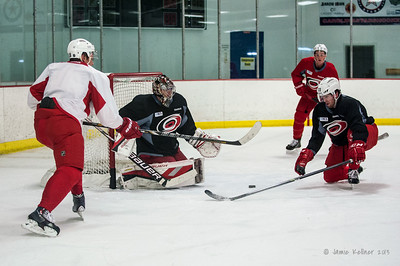 December 28, 2013. Carolina Hurricanes practice at Raleigh Center Ice, Raleigh, NC. Copyright © 2013 Jamie Kellner. All rights reserved.