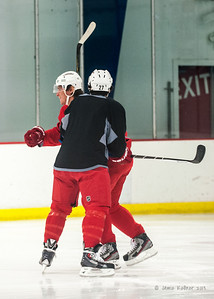 This was happening as I walked into practice. October 23, 2013. Carolina Hurricanes practice at Raleigh Center Ice, Raleigh, NC.  Copyright © 2013 Jamie Kellner. All rights reserved.