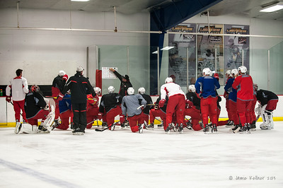 October 23, 2013. Carolina Hurricanes practice at Raleigh Center Ice, Raleigh, NC.  Copyright © 2013 Jamie Kellner. All rights reserved.