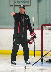 Kirk Muller. October 23, 2013. Carolina Hurricanes practice at Raleigh Center Ice, Raleigh, NC.  Copyright © 2013 Jamie Kellner. All rights reserved.
