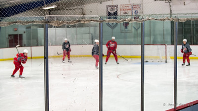 Five-on-three practice - Alex Semin, Ryan Murphy, Justin Faulk, Eric Staal, Jeff Skiner. October 23, 2013. Carolina Hurricanes practice at Raleigh Center Ice, Raleigh, NC.  Copyright © 2013 Jamie Kellner. All rights reserved.