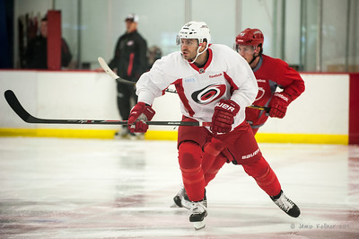 September 13, 2013. Carolina Hurricanes training camp practice at Raleigh Center Ice, Raleigh, NC.  Copyright © 2013 Jamie Kellner. All rights reserved.