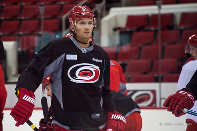 Ron Hainsey. September 14, 2013. Carolina Hurricanes Training Camp, PNC Arena, Raleigh, NC. Copyright © 2013 Jamie Kellner. All rights reserved.