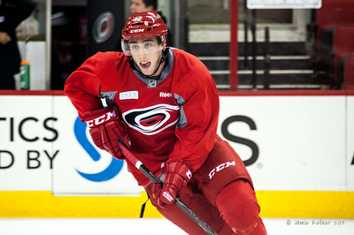 Clark Bishop. July 24, 2014. Carolina Hurricanes Prospect Development Camp, PNC Arena, Raleigh, NC. Coyright © 2014 Jamie Kellner. All Rights Reserved.