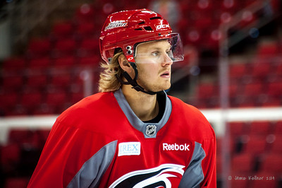 Lucas Wallmark. July 24, 2014. Carolina Hurricanes Prospect Development Camp, PNC Arena, Raleigh, NC. Coyright © 2014 Jamie Kellner. All Rights Reserved.