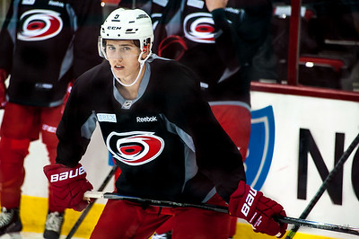Haydn Fleury. July 23, 2014. Carolina Hurricanes Prospect Development Camp, PNC Arena, Raleigh, NC. Coyright © 2014 Jamie Kellner. All Rights Reserved.