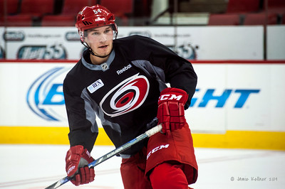 Brett Pesce. July 24, 2014. Carolina Hurricanes Prospect Development Camp, PNC Arena, Raleigh, NC. Coyright © 2014 Jamie Kellner. All Rights Reserved.