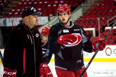 Jacob MacDonald (with Cory Stillman). July 24, 2014. Carolina Hurricanes Prospect Development Camp, PNC Arena, Raleigh, NC. Coyright © 2014 Jamie Kellner. All Rights Reserved.