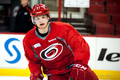 Warren Foegele. July 24, 2014. Carolina Hurricanes Prospect Development Camp, PNC Arena, Raleigh, NC. Coyright © 2014 Jamie Kellner. All Rights Reserved.