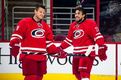 Jiri Tlusty and Justin Faulk