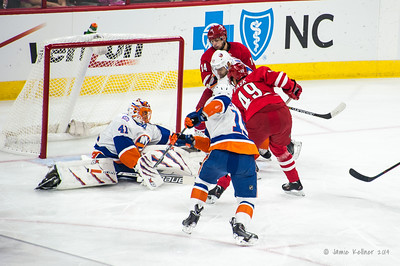 October 10, 2014. Carolina Hurricanes vs. New York Islanders (Opening Night), PNC Arena, Raleigh, NC. Copyright © 2014 Jamie Kellner. All Rights Reserved.