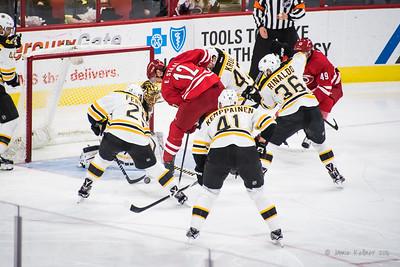 February 26, 2016. Carolina Hurricanes vs Boston Bruins, PNC Arena, Raleigh, NC. Copyright © 2016 Jamie Kellner. All Rights Reserved.
