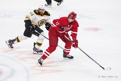 February 26, 2016. Carolina Hurricanes vs Boston Bruins, PNC Arena, Raleigh, NC. Copyright © 2016 Jamie Kellner. All Rights Reserved.