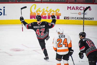 February 22, 2016. Carolina Hurricanes vs Philadelphia Flyers, PNC Arena, Raleigh, NC. Copyright © 2016 Jamie Kellner. All Rights Reserved.
