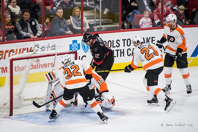 February 22, 2016. Carolina Hurricanes vs Philadelphia Flyers, PNC Arena, Raleigh, NC. Copyright © 2016 Jamie Kellner. All Rights Reserved.