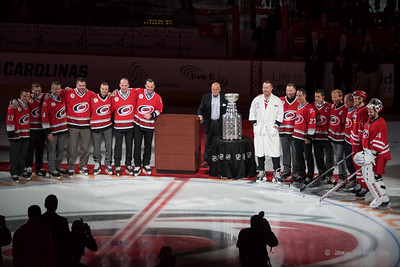 February 13, 2016. 2006 Stanley Cup Reunion Ceremony. Carolina Hurricanes vs New York Islanders, PNC Arena, Raleigh, NC. Copyright © 2016 Jamie Kellner. All Rights Reserved.