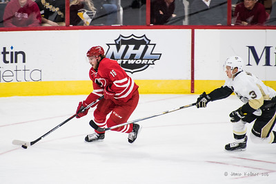 February 12, 2016. Carolina Hurricanes vs Pittsburgh Penguins, PNC Arena, Raleigh, NC. Copyright © 2016 Jamie Kellner. All Rights Reserved.