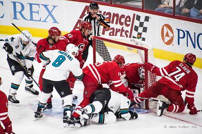 February 19, 2016. Carolina Hurricanes vs San Jose Sharks, PNC Arena, Raleigh, NC. Copyright © 2016 Jamie Kellner. All Rights Reserved.