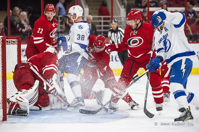 September 30, 2016. Carolina Hurricanes vs. Tampa Bay Lightning, PNC Arena, Raleigh, NC. Copyright © 2016 Jamie Kellner. All Rights Reserved.