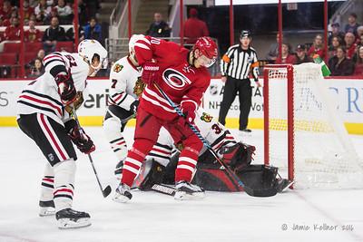 December 30, 2016. Carolina Hurricanes vs. Chicago Blackhawks, PNC Arena, Raleigh, NC. Copyright © 2016 Jamie Kellner. All Rights Reserved.