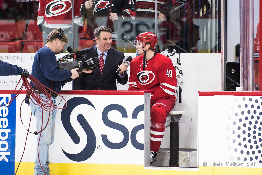 Bench Interview - Mike Maniscalco with first star Victor Rask