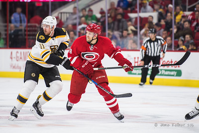 December 17, 2016. Carolina Hurricanes vs. Boston Bruins, PNC Arena, Raleigh, NC. Copyright © 2016 Jamie Kellner. All Rights Reserved.