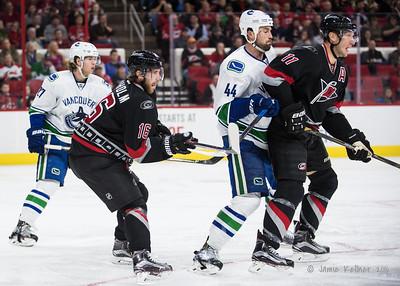 December 13, 2016. Carolina Hurricanes vs. Vancouver Canucks, PNC Arena, Raleigh, NC. Copyright © 2016 Jamie Kellner. All Rights Reserved.