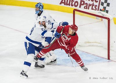 December 4, 2016. Carolina Hurricanes vs. Tampa Bay Lightning, PNC Arena, Raleigh, NC. Copyright © 2016 Jamie Kellner. All Rights Reserved.