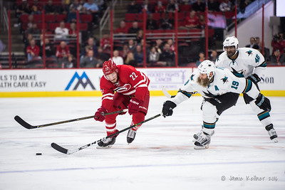 November 15, 2016. Carolina Hurricanes vs. San Jose Sharks, PNC Arena, Raleigh, NC. Copyright © 2016 Jamie Kellner. All Rights Reserved.