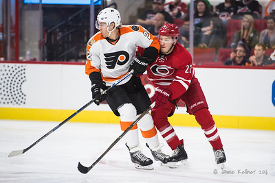 October 30, 2016. Carolina Hurricanes vs. Philadelphia Flyers, PNC Arena, Raleigh, NC. Copyright © 2016 Jamie Kellner. All Rights Reserved.