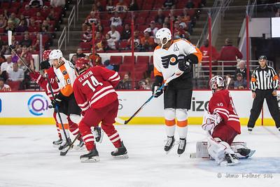 October 30, 2016. Carolina Hurricanes vs. Philadelphia Flyers, PNC Arena, Raleigh, NC. Copyright © 2016 Jamie Kellner. All Rights Reserved.