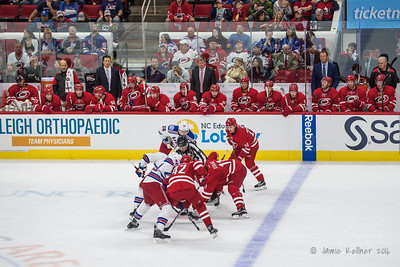 October 28, 2016. Carolina Hurricanes vs. New York Rangers, PNC Arena, Raleigh, NC. Copyright © 2016 Jamie Kellner. All Rights Reserved.