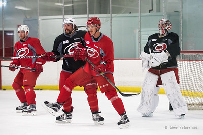 September 6, 2016. Carolina Hurricanes preseason informal practice at Raleigh Center Ice, Raleigh, NC. Copyright © 2016 Jamie Kellner. All Rights Reserved.