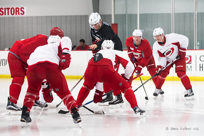 September 15, 2016. Carolina Hurricanes preseason informal practice at Raleigh Center Ice, Raleigh, NC. Copyright © 2016 Jamie Kellner. All Rights Reserved.