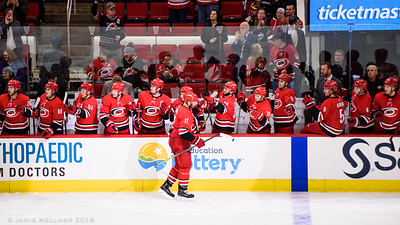 March 4, 2018. Carolina Hurricanes vs. Winnipeg Jets, PNC Arena, Raleigh, NC. Copyright © 2018 Jamie Kellner. All Rights Reserved.