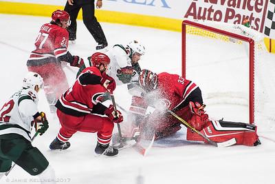 October 7, 2017. Carolina Hurricanes vs Minnesota Wild, PNC Arena, Raleigh, NC. Copyright © 2017 Jamie Kellner. All Rights Reserved.
