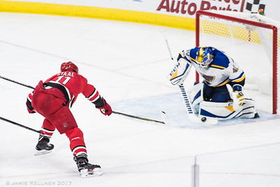 October 27, 2017. Carolina Hurricanes vs St. Louis Blues, PNC Arena, Raleigh, NC. Copyright © 2017 Jamie Kellner. All Rights Reserved.