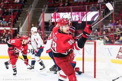 September 29, 2017. Carolina Hurricanes vs Washington Capitals, PNC Arena, Raleigh, NC. Copyright © 2017 Jamie Kellner. All Rights Reserved.