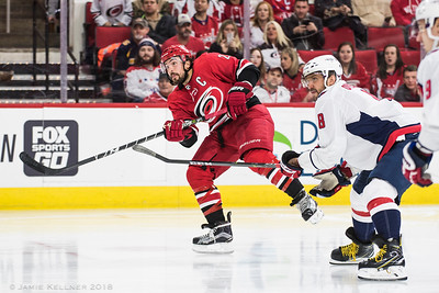 January 12, 2018. Carolina Hurricanes vs. Washington Capitals, PNC Arena, Raleigh, NC. Copyright © 2018 Jamie Kellner. All Rights Reserved.