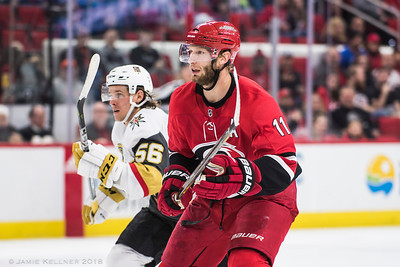 January 21, 2018. Carolina Hurricanes vs. Vegas Golden Knights, PNC Arena, Raleigh, NC. Copyright © 2018 Jamie Kellner. All Rights Reserved.