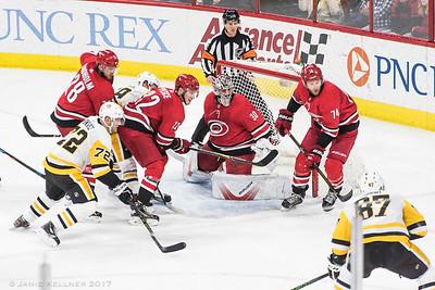 December 29, 2017. Carolina Hurricanes vs Pittsburgh Penguins, PNC Arena, Raleigh, NC. Copyright © 2017 Jamie Kellner. All Rights Reserved.