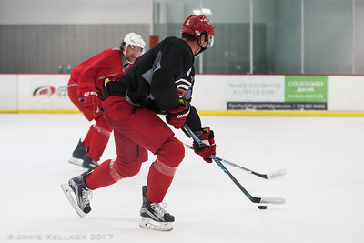 August 21, 2017. Carolina Hurricanes pre-camp practice at Raleigh Center Ice, Raleigh, NC. Copyright © 2017 Jamie Kellner. All Rights Reserved.