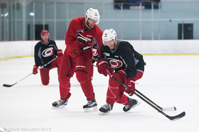 August 28, 2017. Carolina Hurricanes pre-camp practice at Raleigh Center Ice, Raleigh, NC. Copyright © 2017 Jamie Kellner. All Rights Reserved.