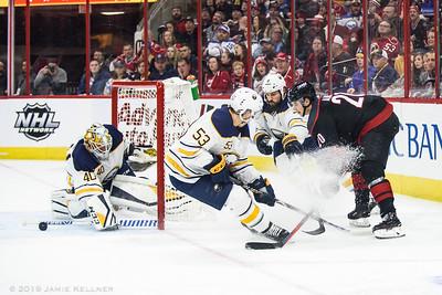 January 11, 2019. Carolina Hurricanes vs. Buffalo Sabres, PNC Arena, Raleigh, NC. Copyright © 2019 Jamie Kellner. All Rights Reserved.
