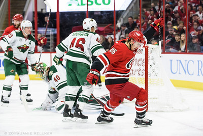 March 23, 2019. Carolina Hurricanes vs. Minnesota Wild, PNC Arena, Raleigh, NC. Copyright © 2019 Jamie Kellner. All Rights Reserved.