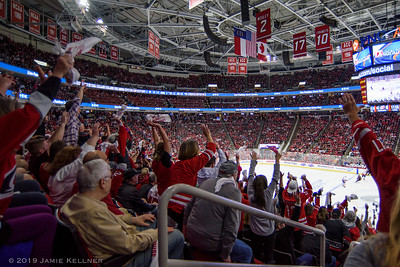 May 3, 2019. Carolina Hurricanes vs. New York Islanders, Game 4 Stanley Cup Playoffs Round 2, PNC Arena, Raleigh, NC. Copyright © 2019 Jamie Kellner. All Rights Reserved.