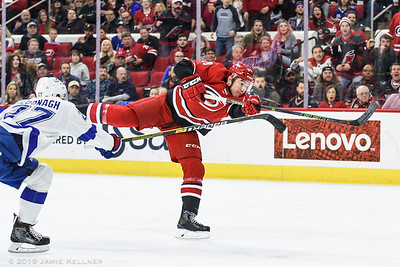 March 21, 2019. Carolina Hurricanes vs. Tampa Bay Lightning, PNC Arena, Raleigh, NC. Copyright © 2019 Jamie Kellner. All Rights Reserved.